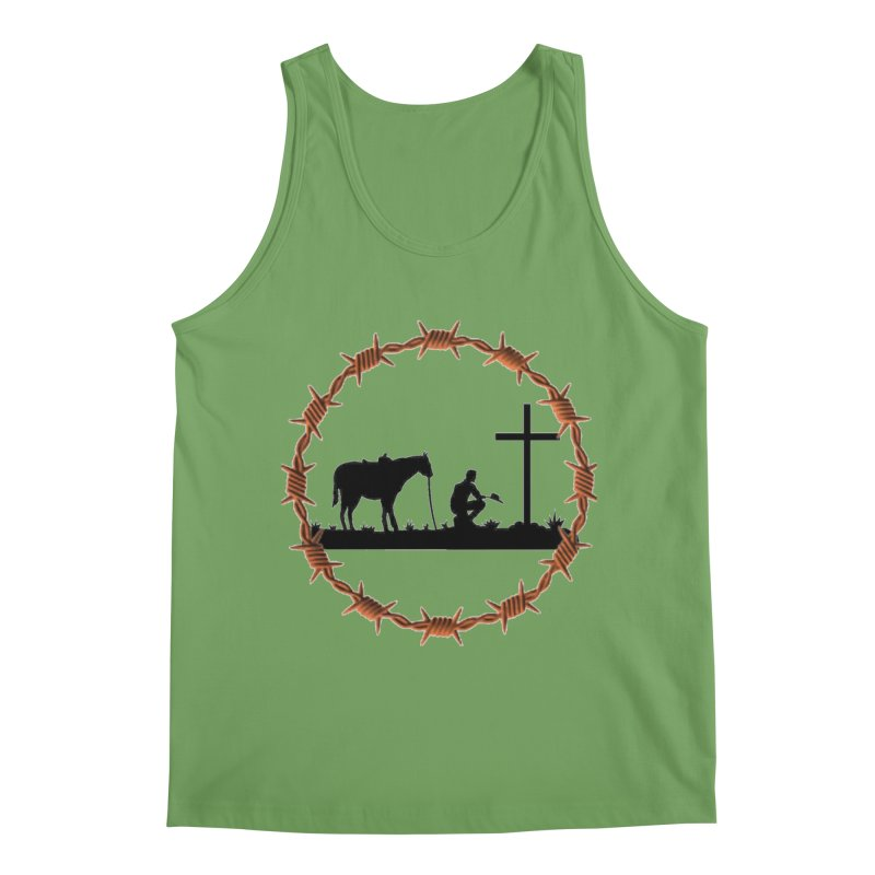 Cowboy Cross Men's Tank by theclearword's Artist Shop