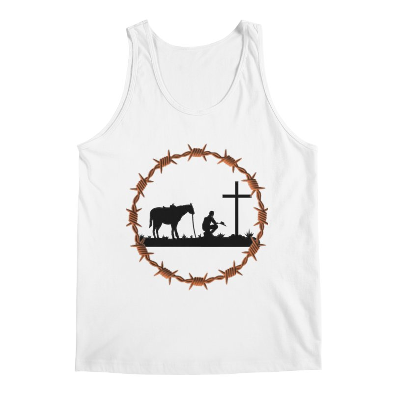 Cowboy Cross Men's Regular Tank by theclearword's Artist Shop