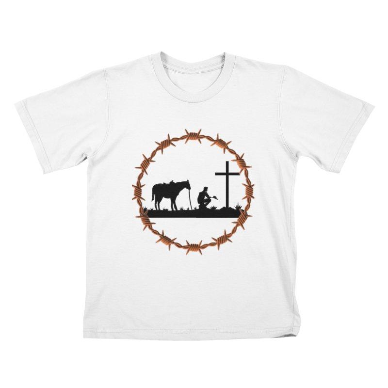 Cowboy Cross Kids T-Shirt by theclearword's Artist Shop
