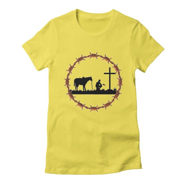 Cowboy Cross Women's T-Shirt by theclearword's Artist Shop