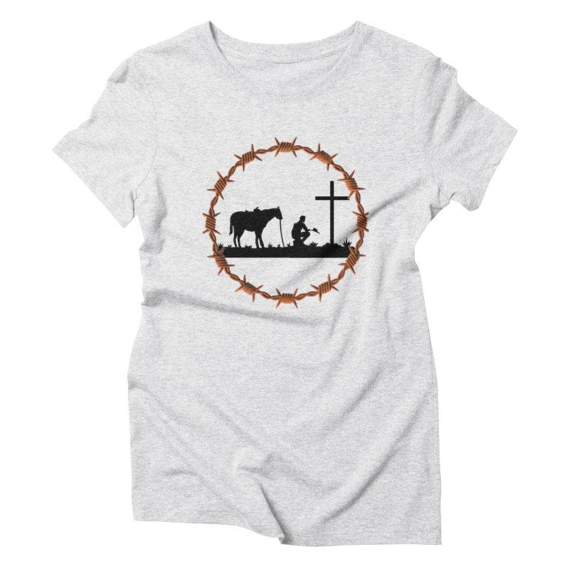 Cowboy Cross Women's Triblend T-Shirt by theclearword's Artist Shop