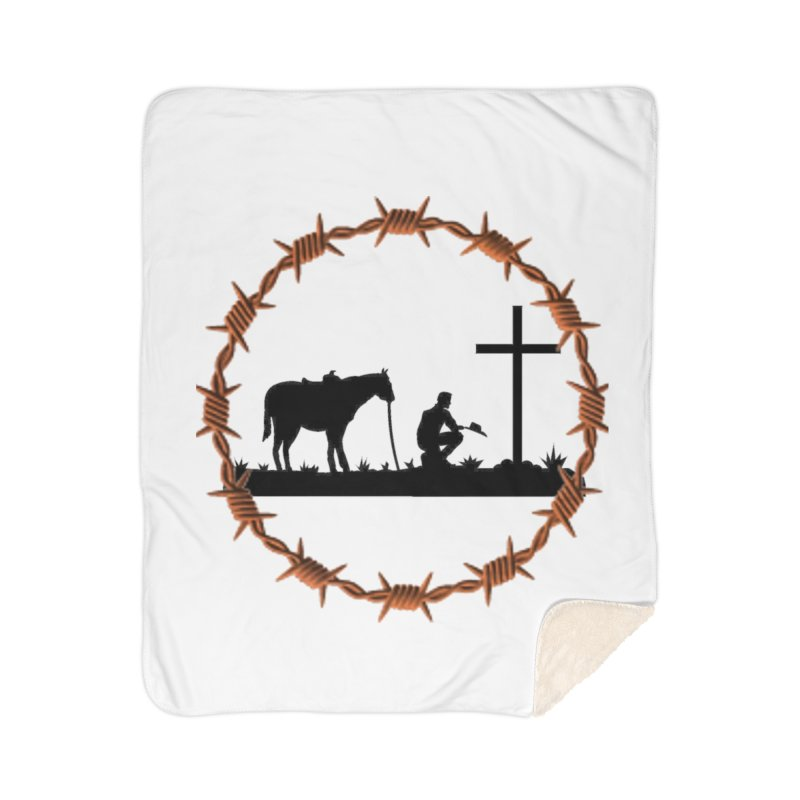 Cowboy Cross Home Blanket by theclearword's Artist Shop