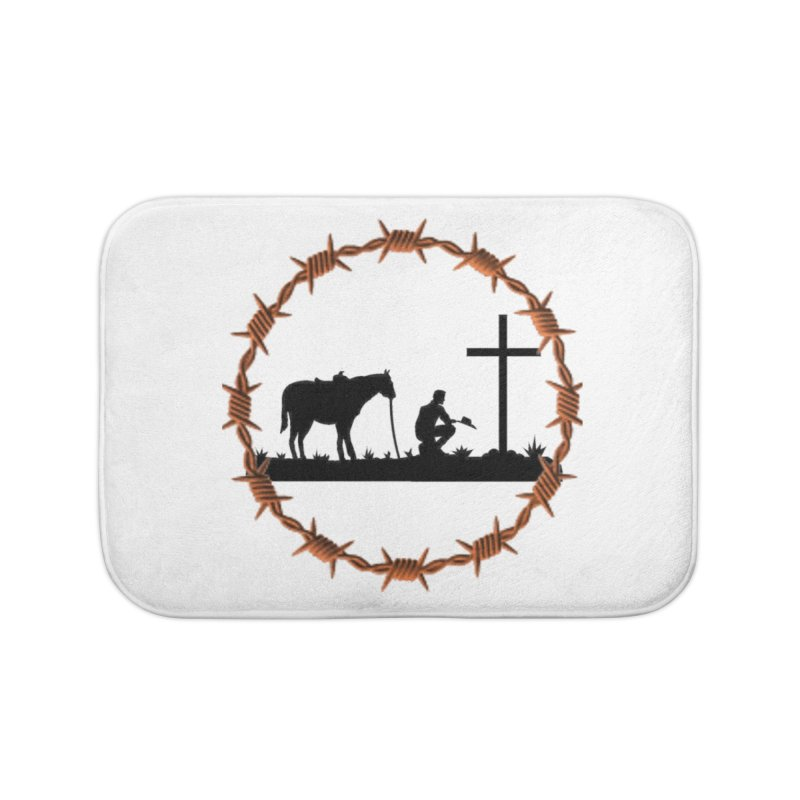 Cowboy Cross Home Bath Mat by theclearword's Artist Shop