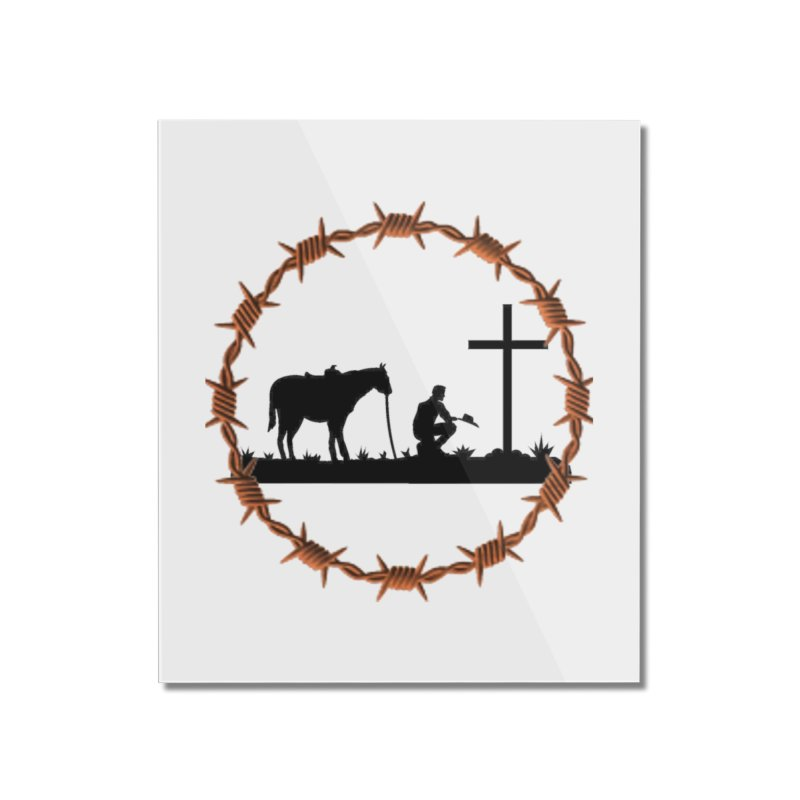 Cowboy Cross Home Mounted Acrylic Print by theclearword's Artist Shop