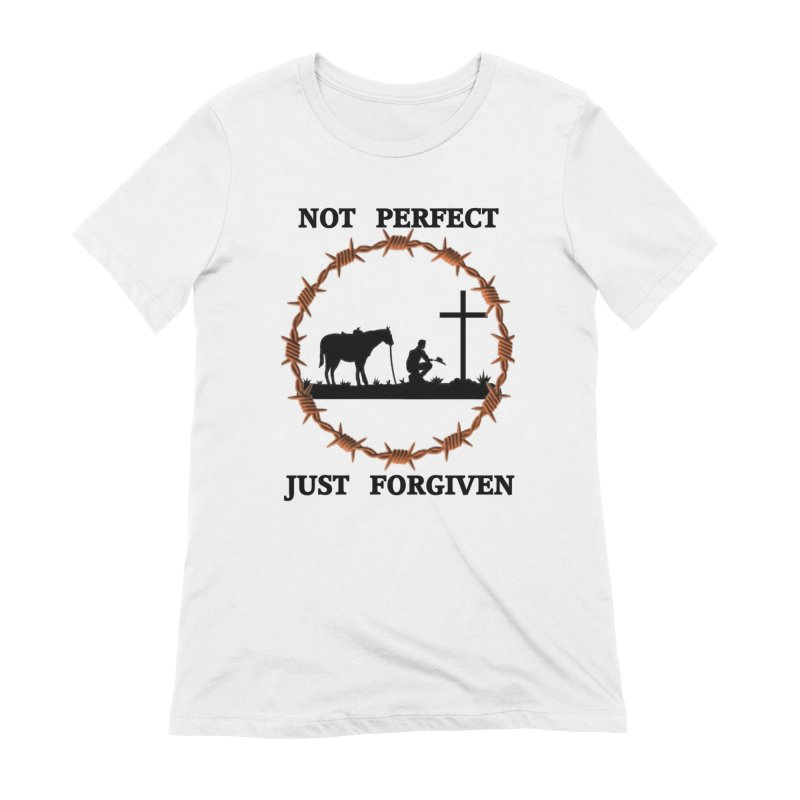 Cowboy, Not perfect Women's T-Shirt by theclearword's Artist Shop