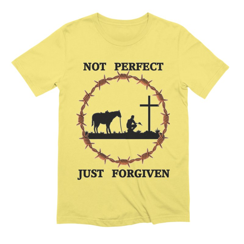 Cowboy, Not perfect Men's T-Shirt by theclearword's Artist Shop