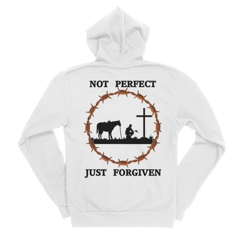Cowboy, Not perfect Women's Zip-Up Hoody by theclearword's Artist Shop