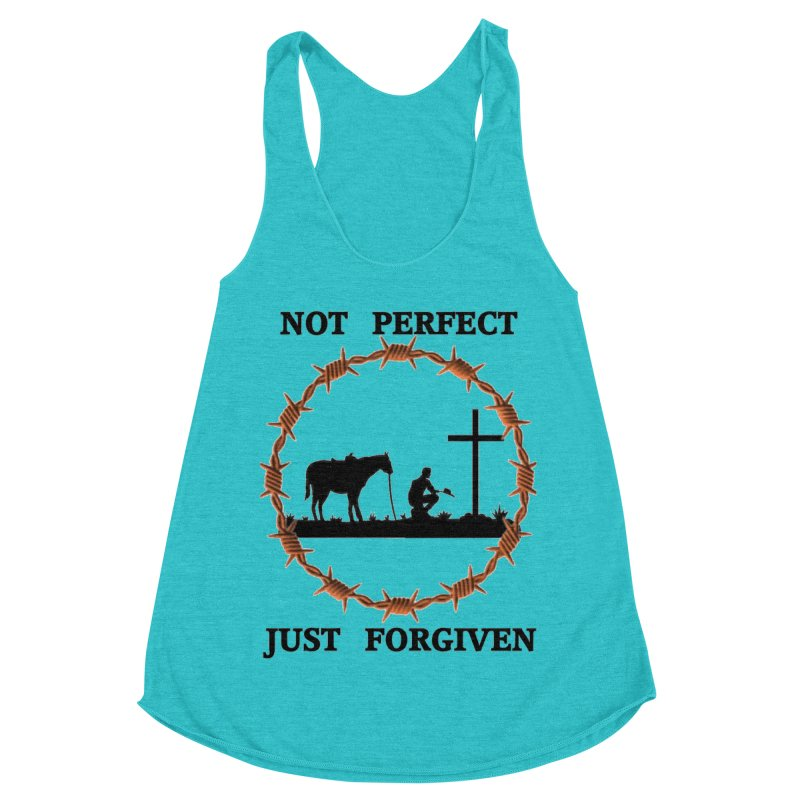 Cowboy, Not perfect Women's Racerback Triblend Tank by theclearword's Artist Shop