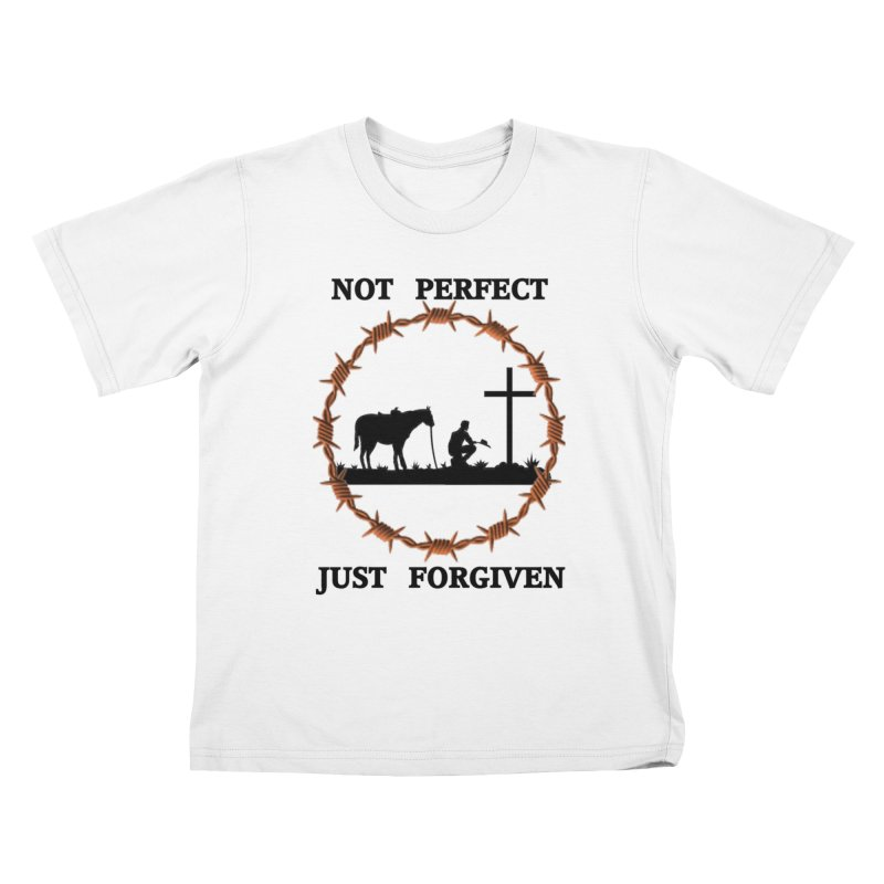 Cowboy, Not perfect Kids T-Shirt by theclearword's Artist Shop
