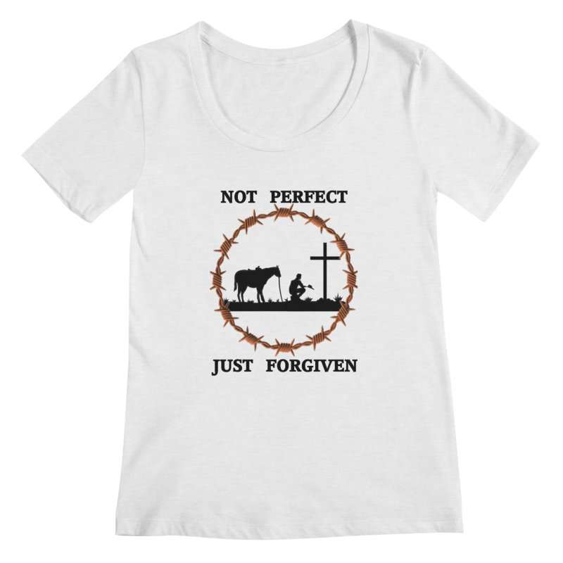 Cowboy, Not perfect Women's Regular Scoop Neck by theclearword's Artist Shop