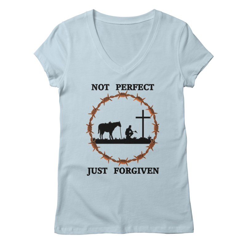 Cowboy, Not perfect Women's V-Neck by theclearword's Artist Shop