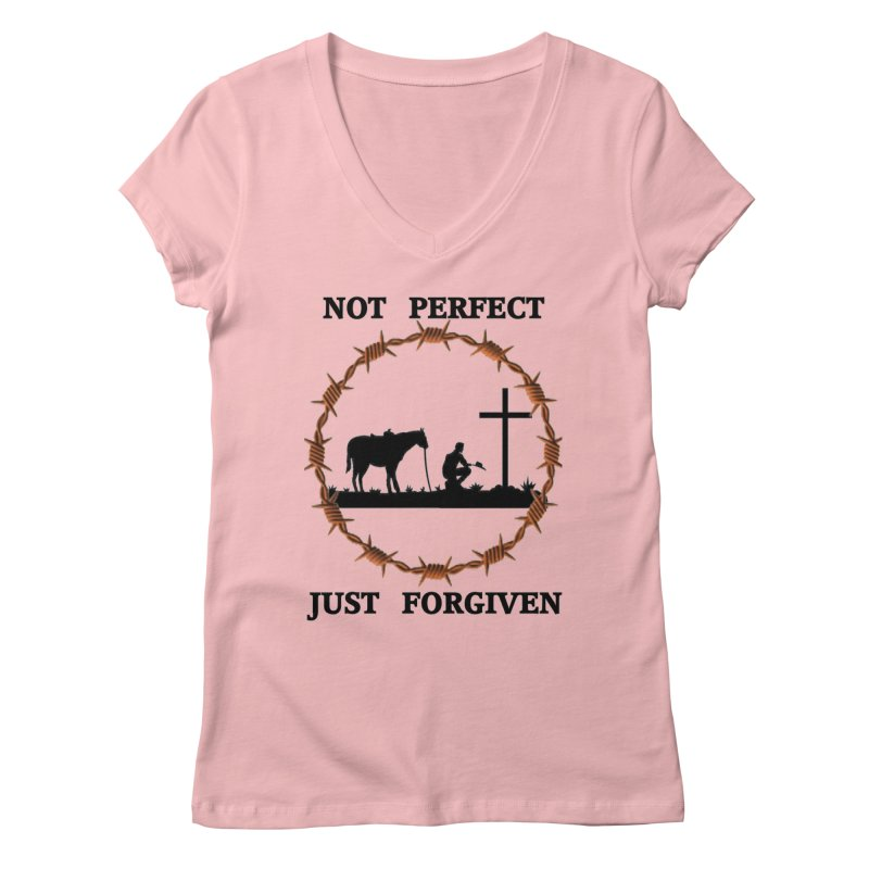 Cowboy, Not perfect Women's Regular V-Neck by theclearword's Artist Shop