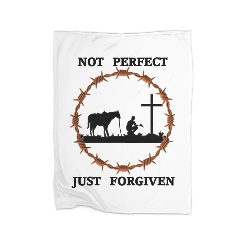 Cowboy, Not perfect Home Fleece Blanket Blanket by theclearword's Artist Shop