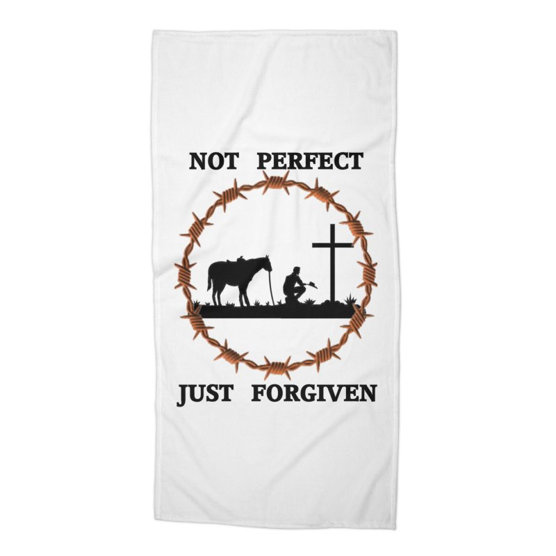 Cowboy, Not perfect Accessories Beach Towel by theclearword's Artist Shop