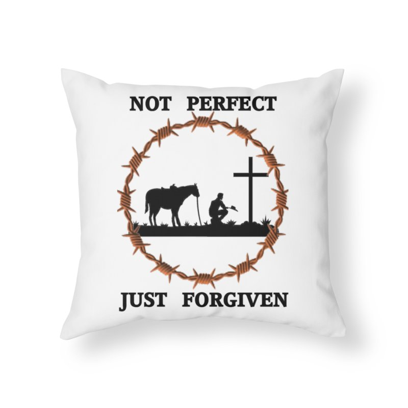 Cowboy, Not perfect Home Throw Pillow by theclearword's Artist Shop