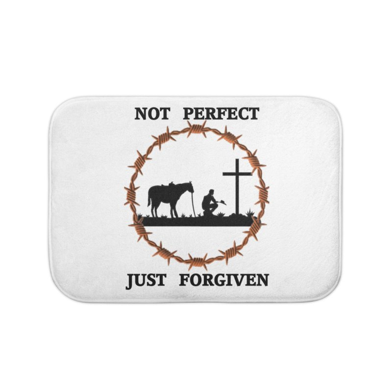 Cowboy, Not perfect Home Bath Mat by theclearword's Artist Shop