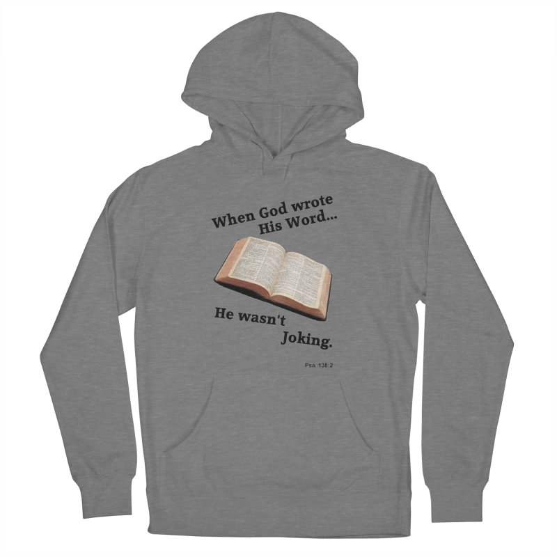 God not joking Women's Pullover Hoody by theclearword's Artist Shop