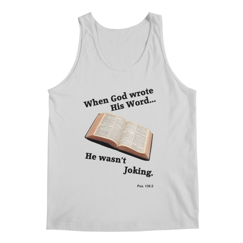 God not joking Men's Regular Tank by theclearword's Artist Shop