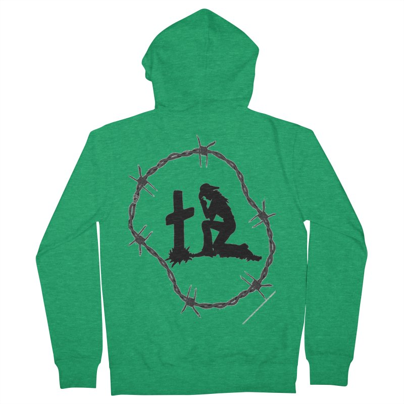 Cowgirl Cross Men's Zip-Up Hoody by theclearword's Artist Shop