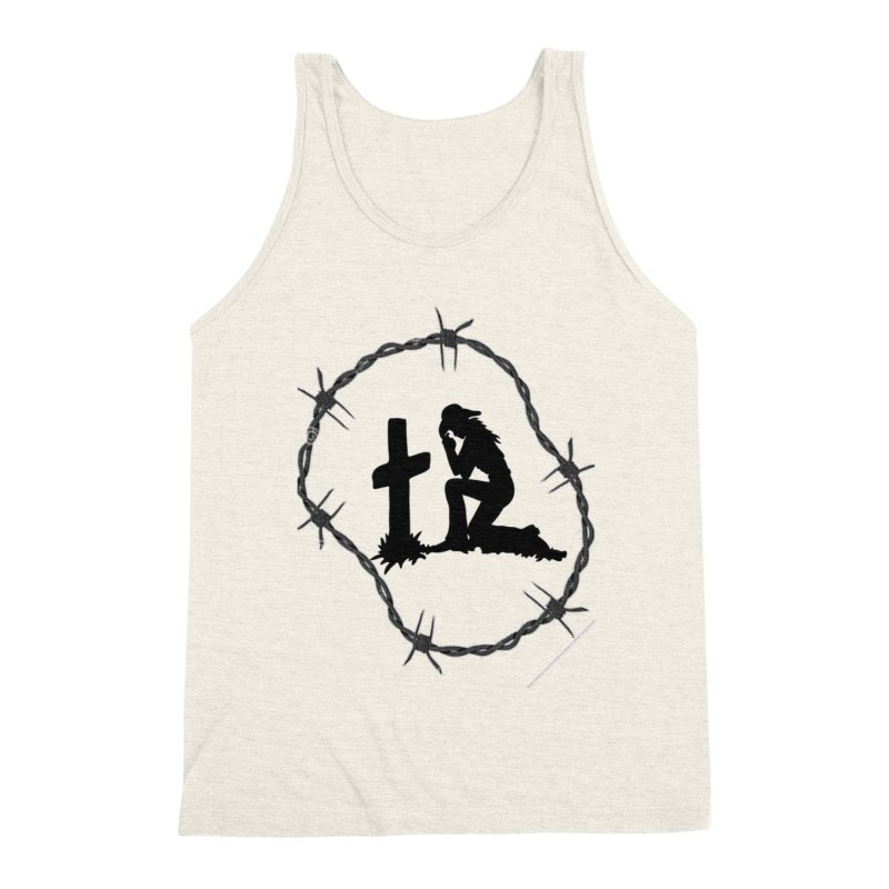Cowgirl Cross Men's Triblend Tank by theclearword's Artist Shop