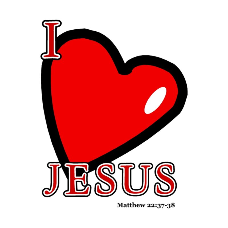 I love Jesus Men's T-Shirt by theclearword's Artist Shop