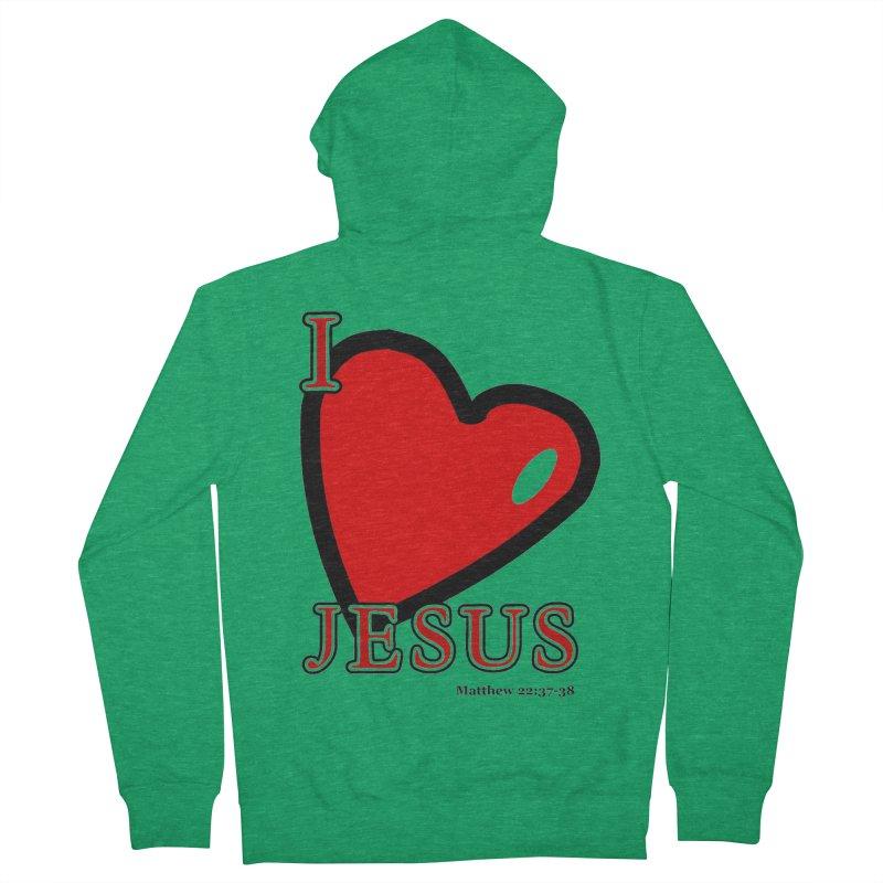 I love Jesus Women's Zip-Up Hoody by theclearword's Artist Shop