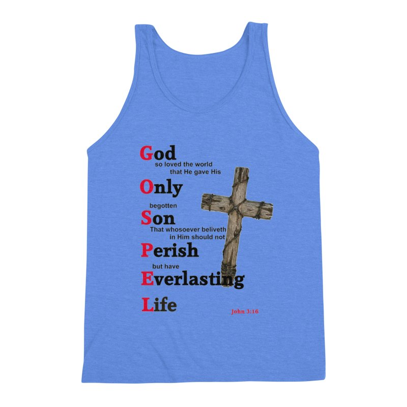 The Gospel Men's Triblend Tank by theclearword's Artist Shop