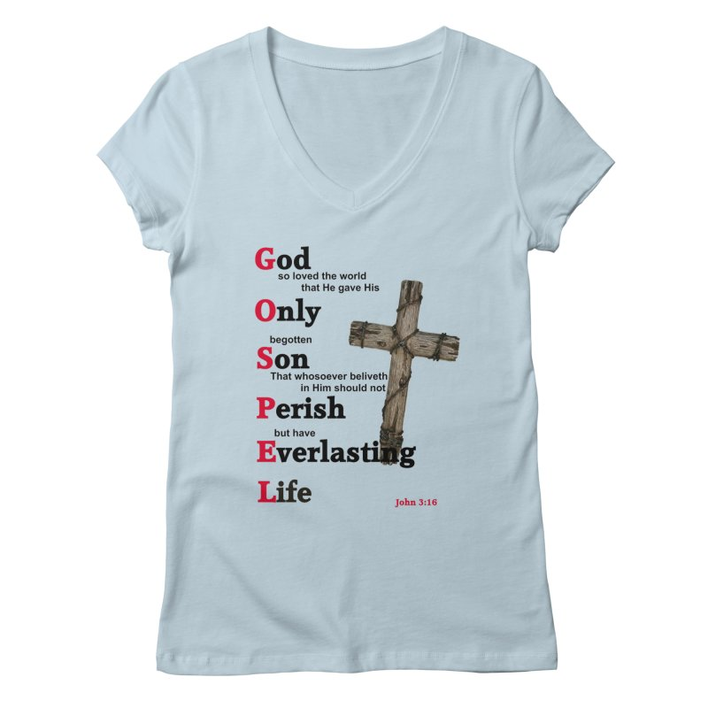 The Gospel Women's V-Neck by theclearword's Artist Shop