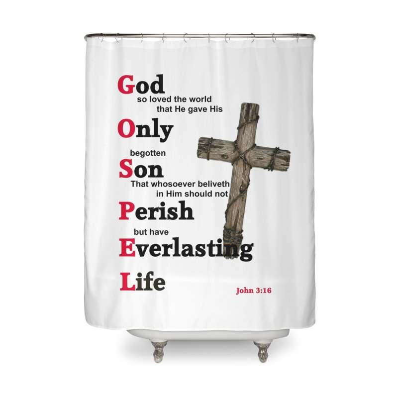 The Gospel Home Shower Curtain by theclearword's Artist Shop
