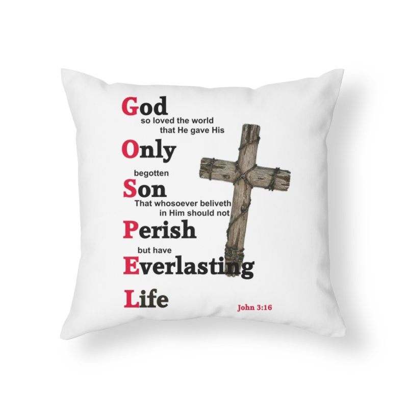 The Gospel Home Throw Pillow by theclearword's Artist Shop