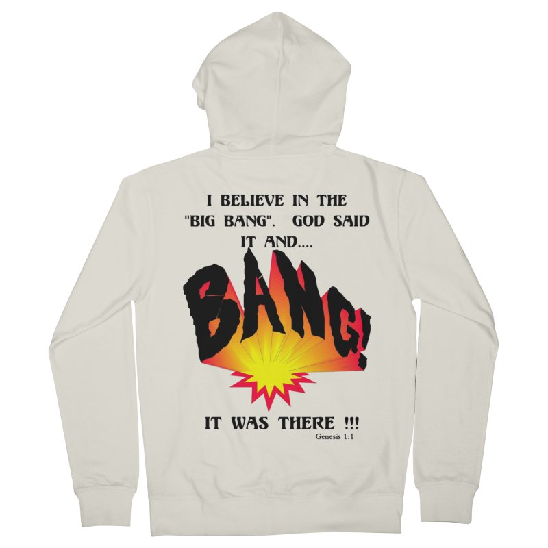 Big Bang Men's French Terry Zip-Up Hoody by theclearword's Artist Shop