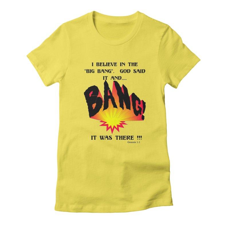Big Bang Women's T-Shirt by theclearword's Artist Shop