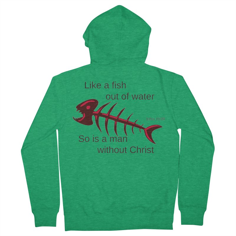 Fish Out of Water Men's Zip-Up Hoody by theclearword's Artist Shop