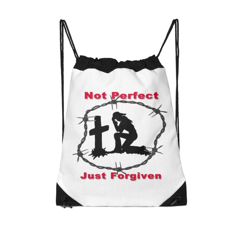 Cowgirl not perfect Accessories Drawstring Bag Bag by theclearword's Artist Shop