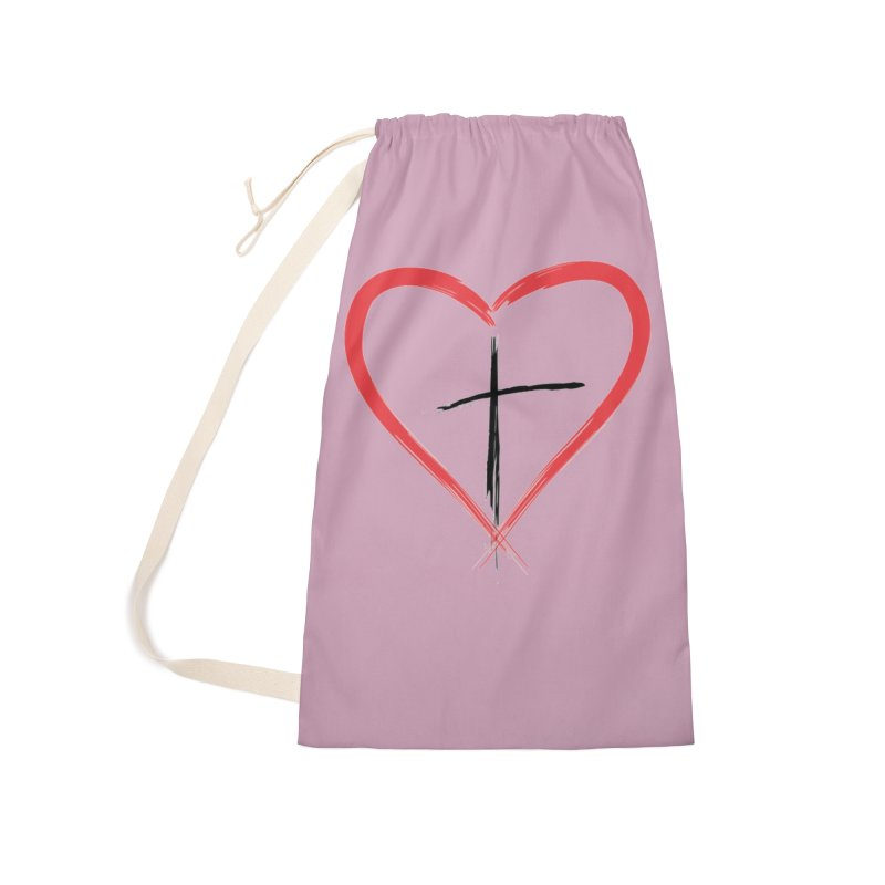 Heart and Cross Accessories Bag by theclearword's Artist Shop