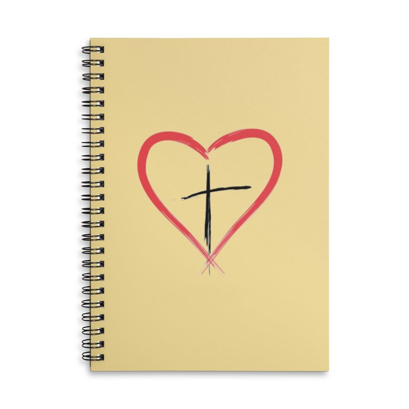 Heart and Cross Accessories Notebook by theclearword's Artist Shop