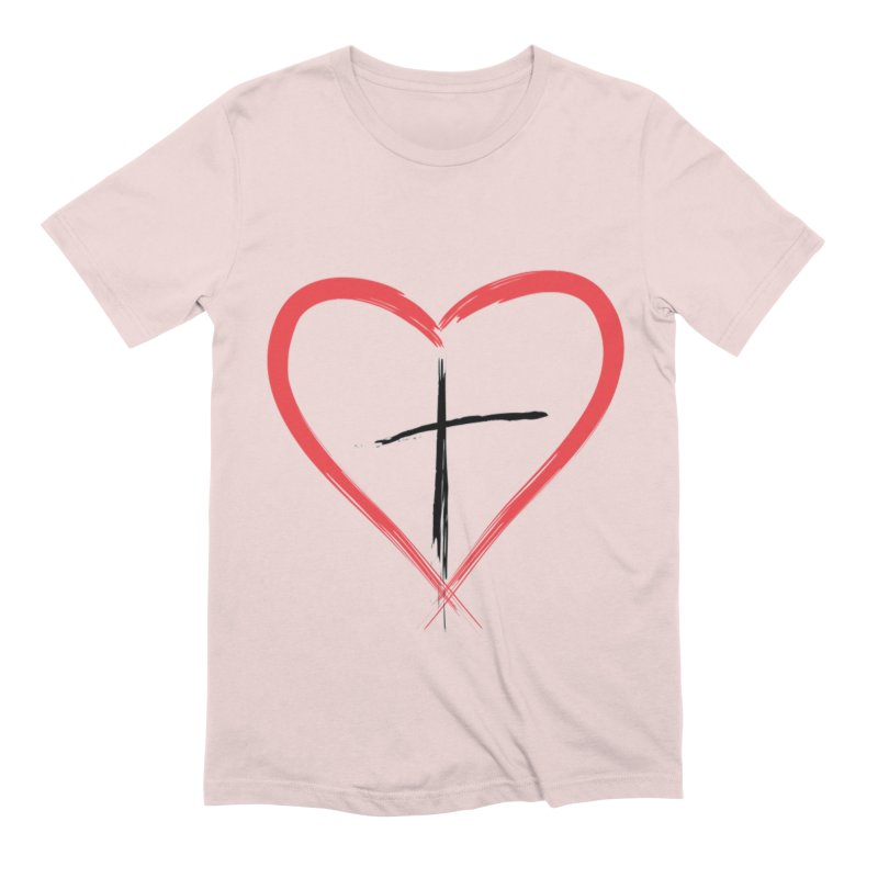Heart and Cross Men's T-Shirt by theclearword's Artist Shop