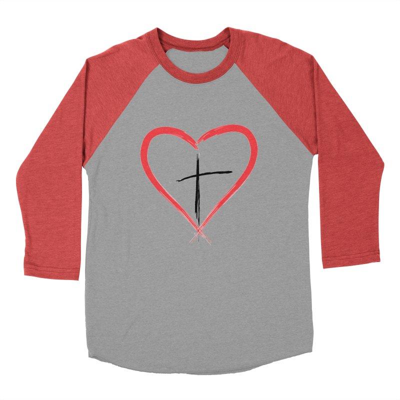 Heart and Cross Men's Longsleeve T-Shirt by theclearword's Artist Shop
