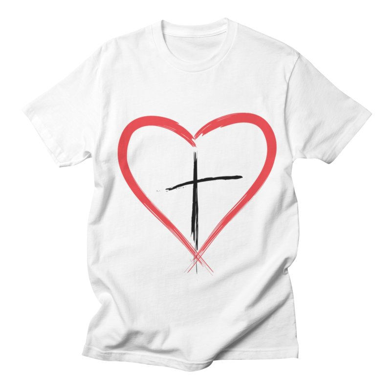 Heart and Cross Women's T-Shirt by theclearword's Artist Shop