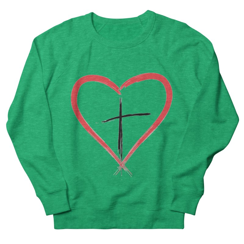Heart and Cross Men's Sweatshirt by theclearword's Artist Shop