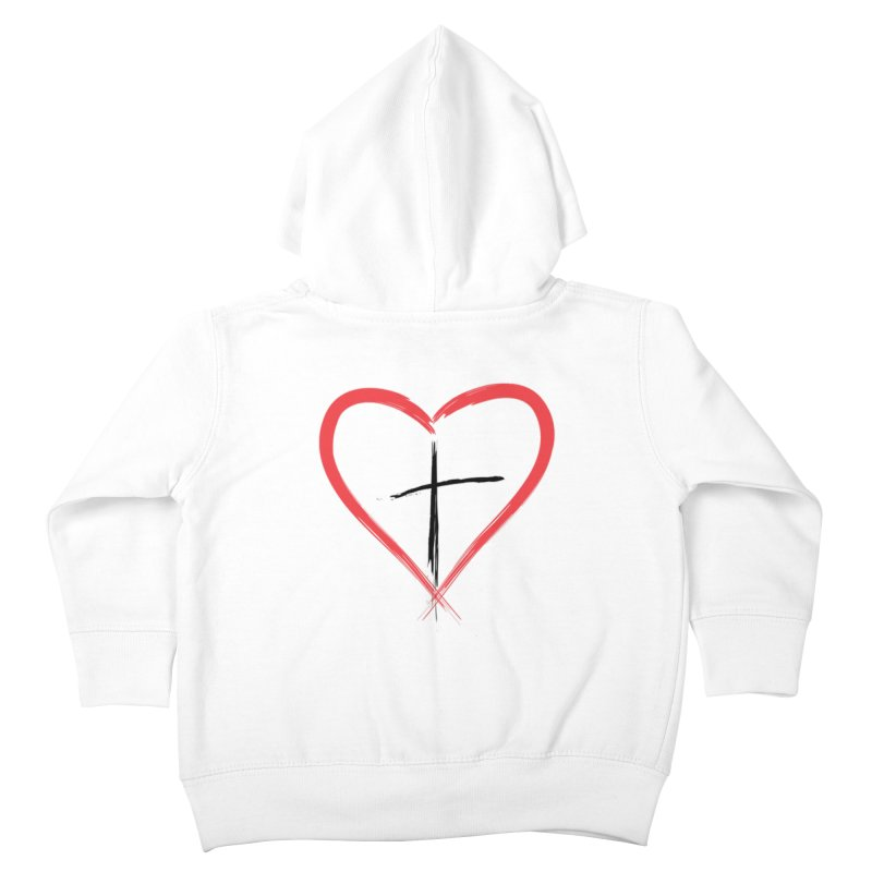 Heart and Cross Kids Toddler Zip-Up Hoody by theclearword's Artist Shop
