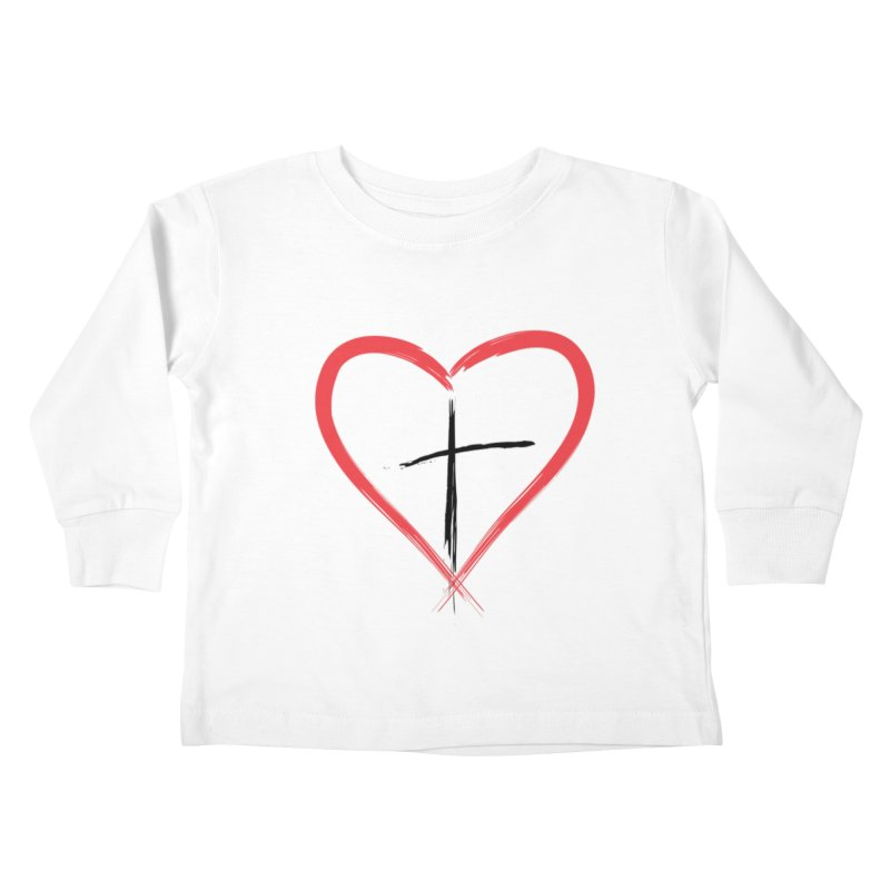 Heart and Cross Kids Toddler Longsleeve T-Shirt by theclearword's Artist Shop