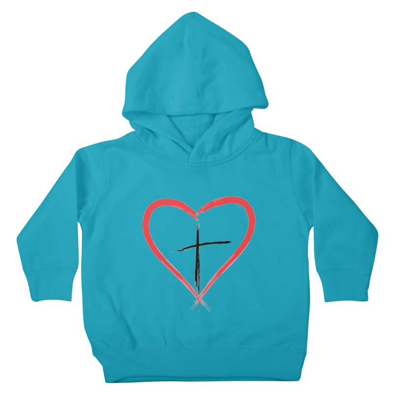 Heart and Cross Kids Toddler Pullover Hoody by theclearword's Artist Shop