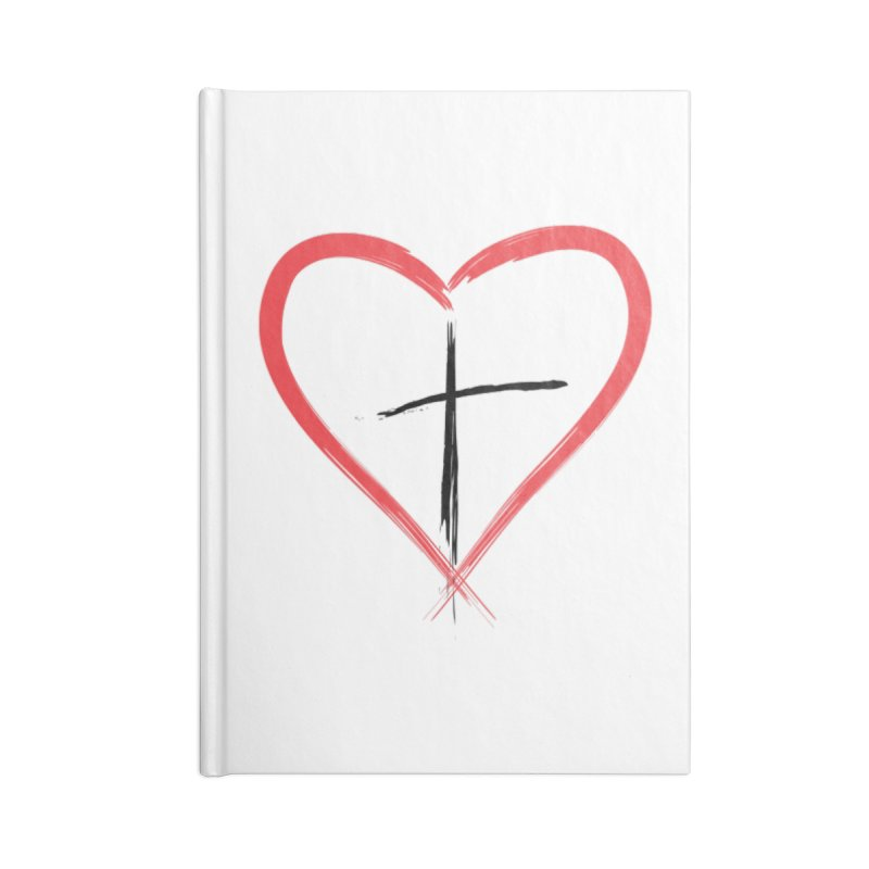 Heart and Cross Accessories Lined Journal Notebook by theclearword's Artist Shop