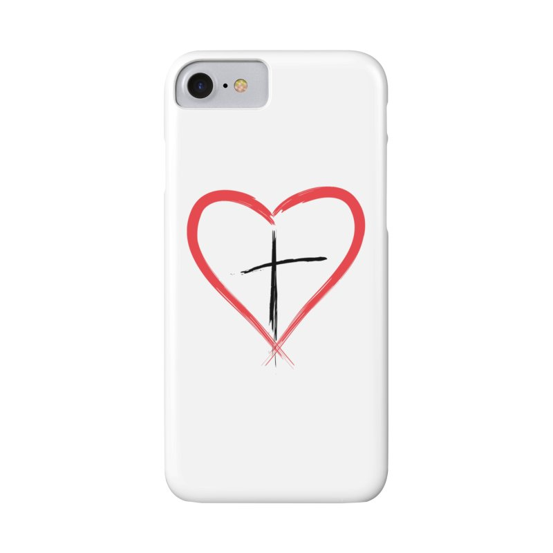 Heart and Cross Accessories Phone Case by theclearword's Artist Shop