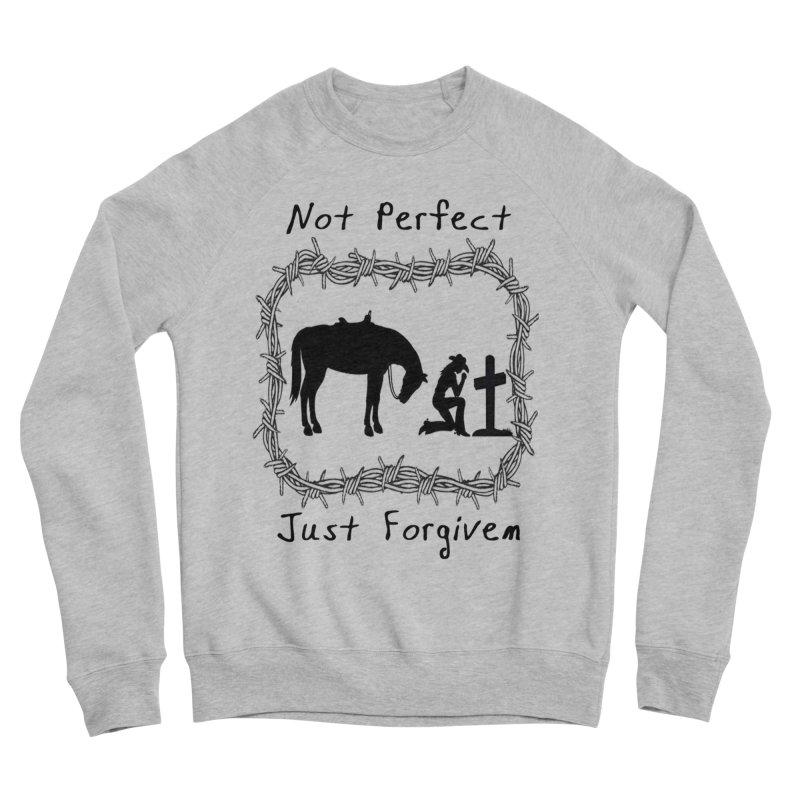 Cowgirl not perfect w/ Horse Men's Sponge Fleece Sweatshirt by theclearword's Artist Shop