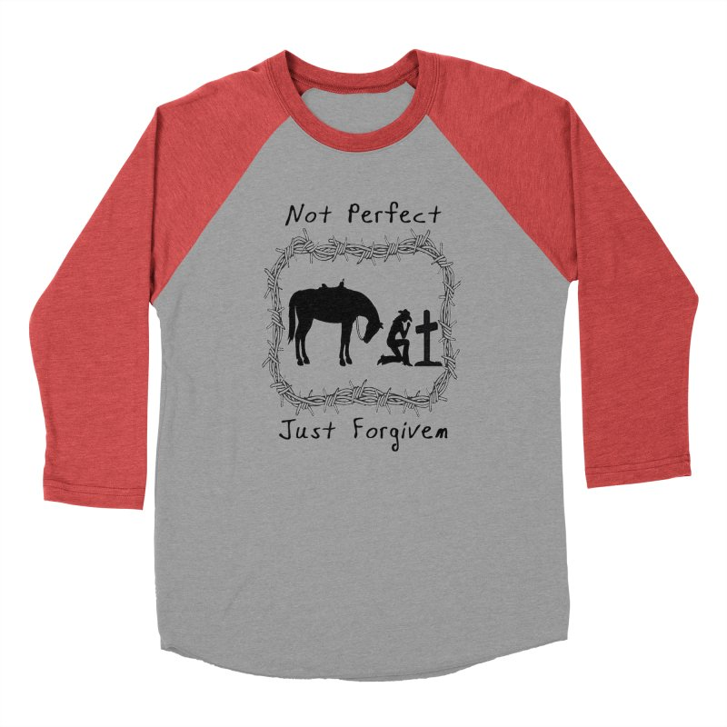 Cowgirl not perfect w/ Horse Men's Longsleeve T-Shirt by theclearword's Artist Shop