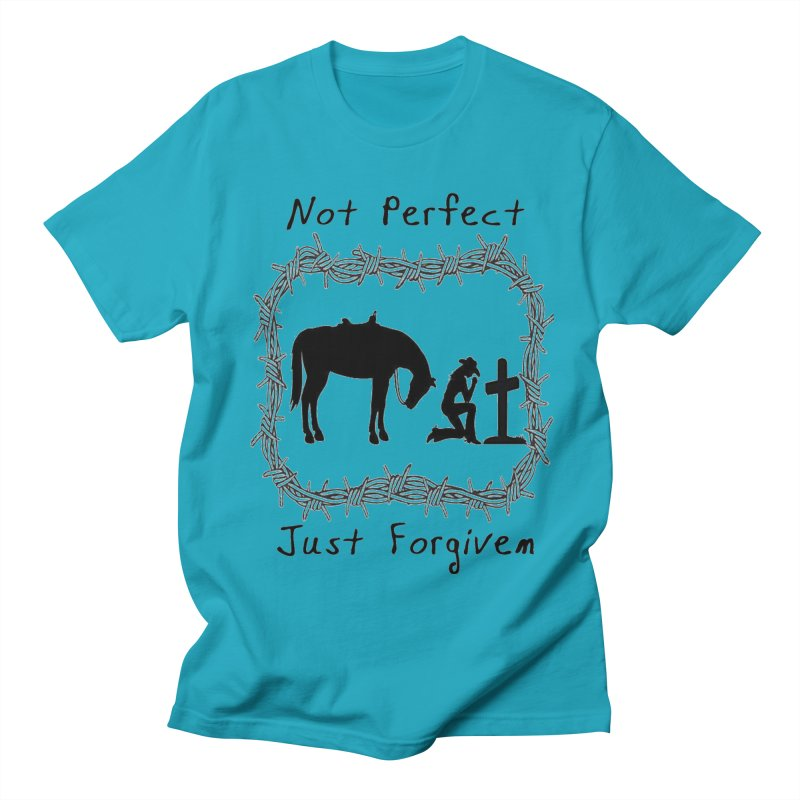 Cowgirl not perfect w/ Horse Men's T-Shirt by theclearword's Artist Shop