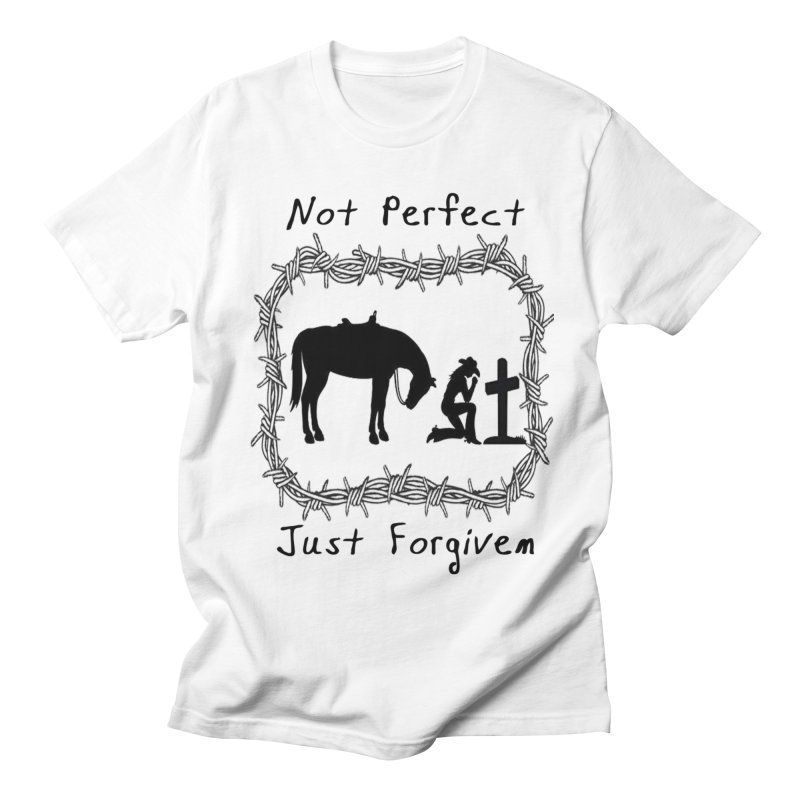 Cowgirl not perfect w/ Horse Men's Regular T-Shirt by theclearword's Artist Shop
