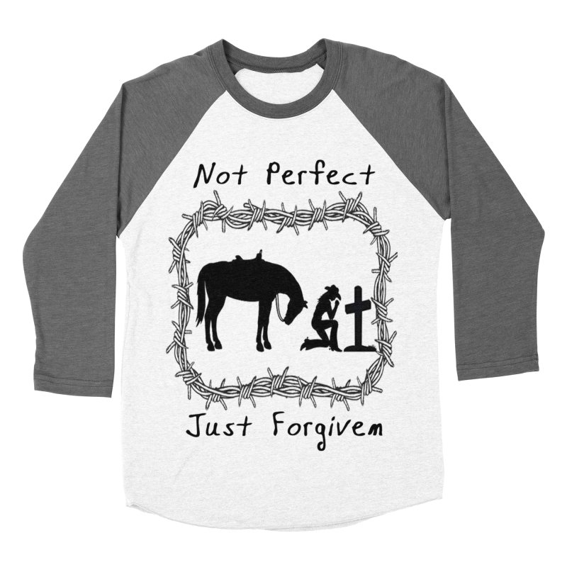 Cowgirl not perfect w/ Horse Men's Baseball Triblend Longsleeve T-Shirt by theclearword's Artist Shop